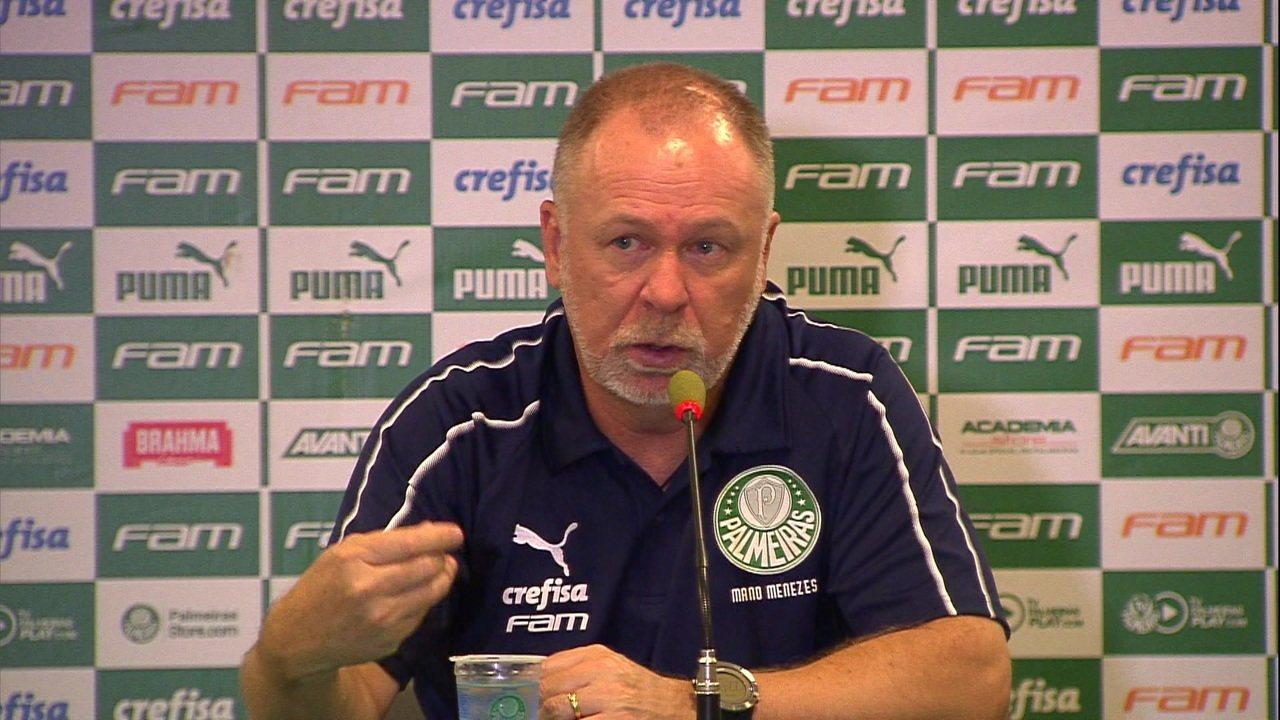 Confira a entrevista coletiva de Mano Menezes após vitória do Palmeiras sobre o São Paulo