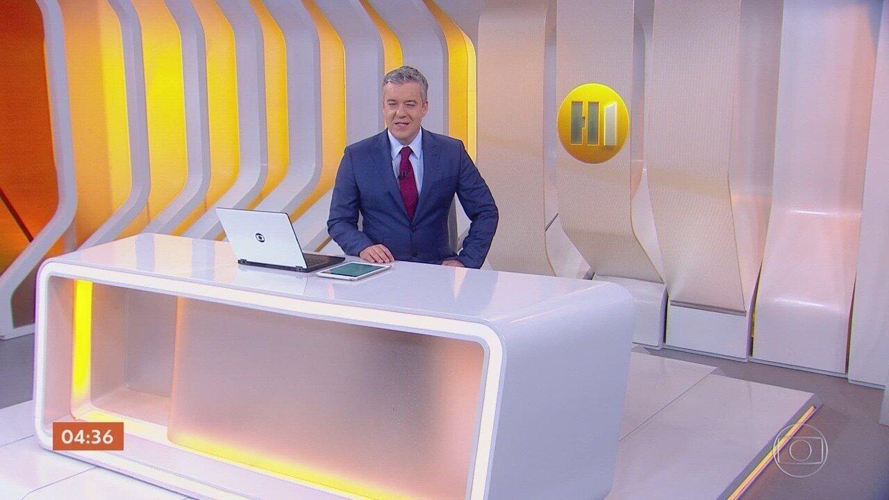 Hora 1 - Edição de sexta-feira, 01/11/2019 - Os assuntos mais importantes do Brasil e do mundo, com apresentação de Roberto Kovalick.