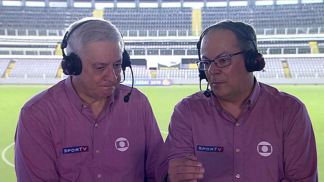 Jota Júnior e Wagner Vilaron analisam a goleada do Santos sobre o Botafogo na Vila Belmiro