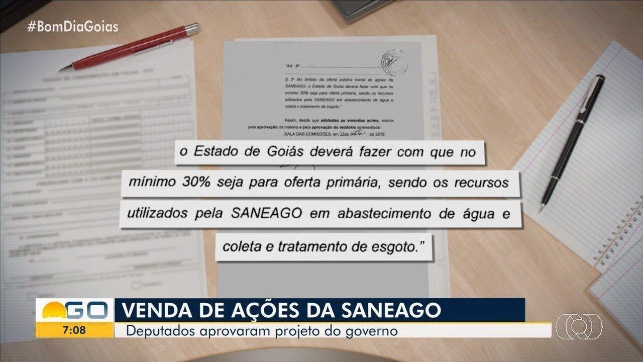 Assembleia vota possibilidade de venda de ações da Saneago