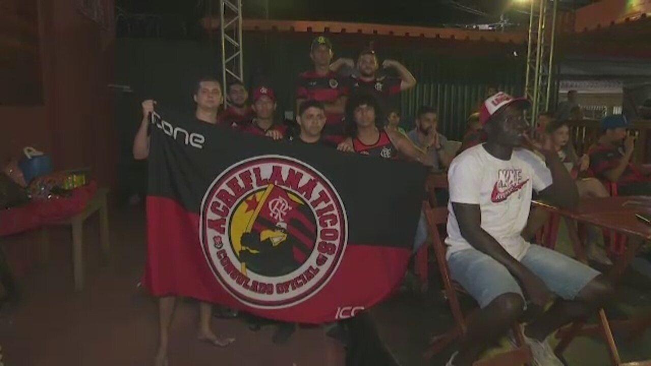 Torcedores do Flamengo no Acre se mobilizam para ver de perto final da Libertadores