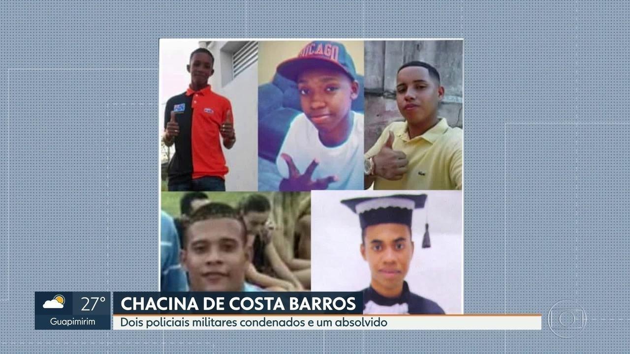 Dois PMs envolvidos na chacina de Costa Barros são condenados