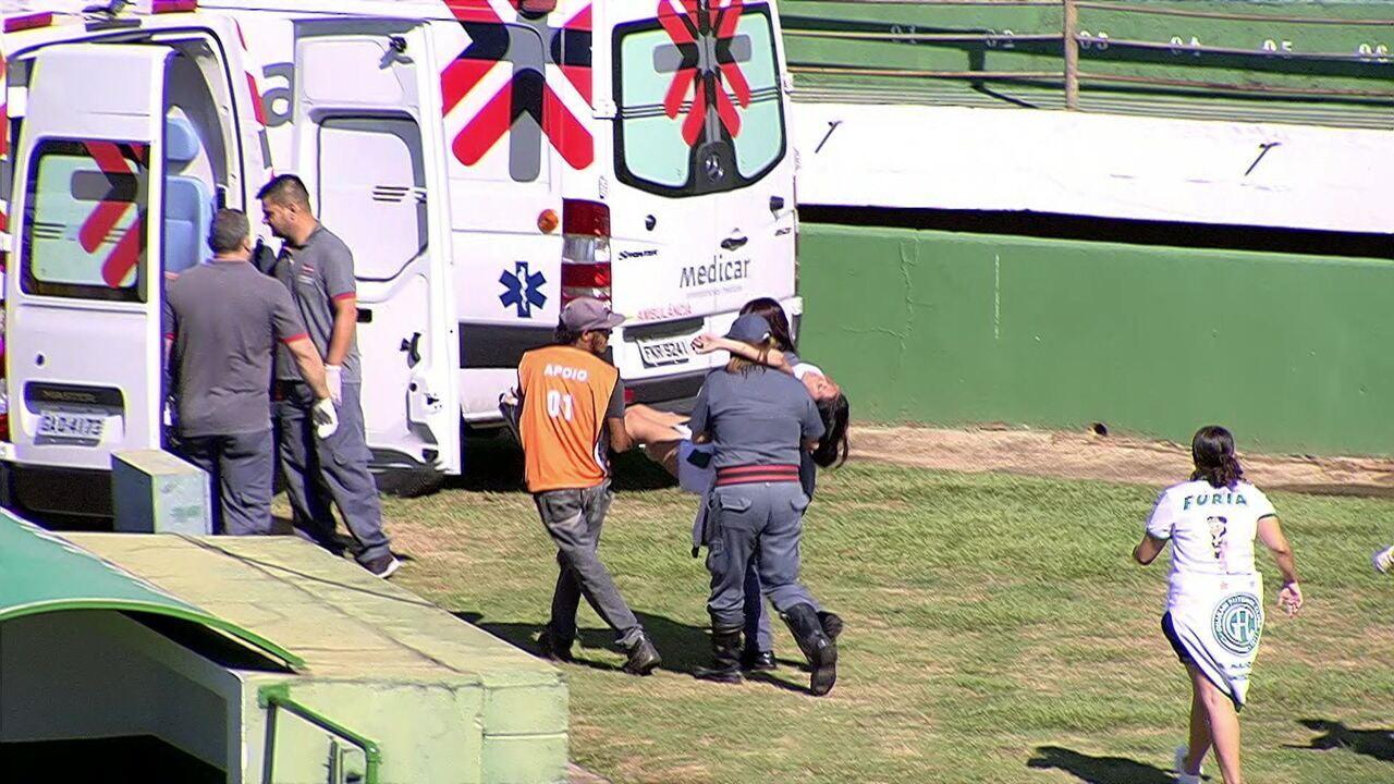 Lamentável! Confusão deixa feridos em frente ao estádio Brinco de Ouro