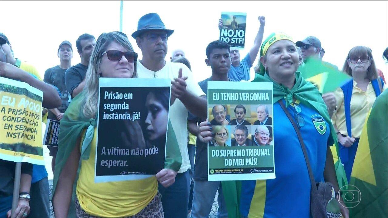 Algumas cidades do país têm atos contra decisão do STF