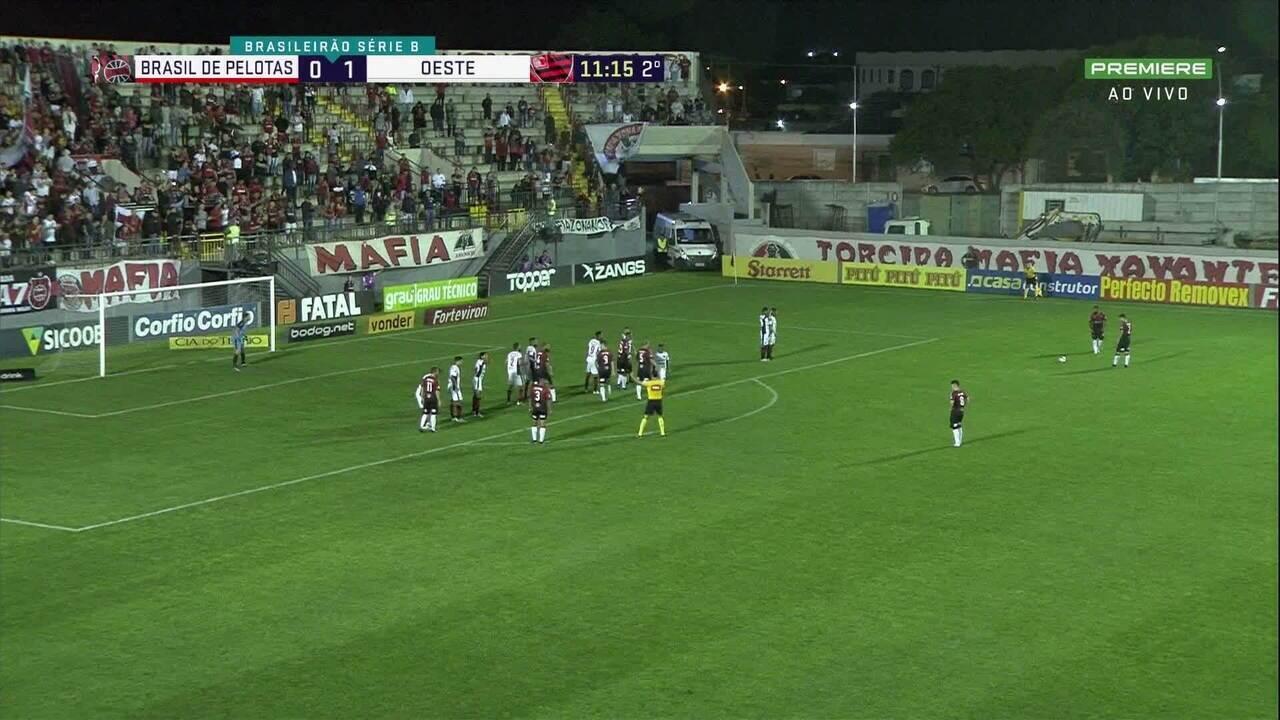 Confira os melhores momentos de Brasil de Pelotas 2x2 Oeste pela 34ª rodada da Série B