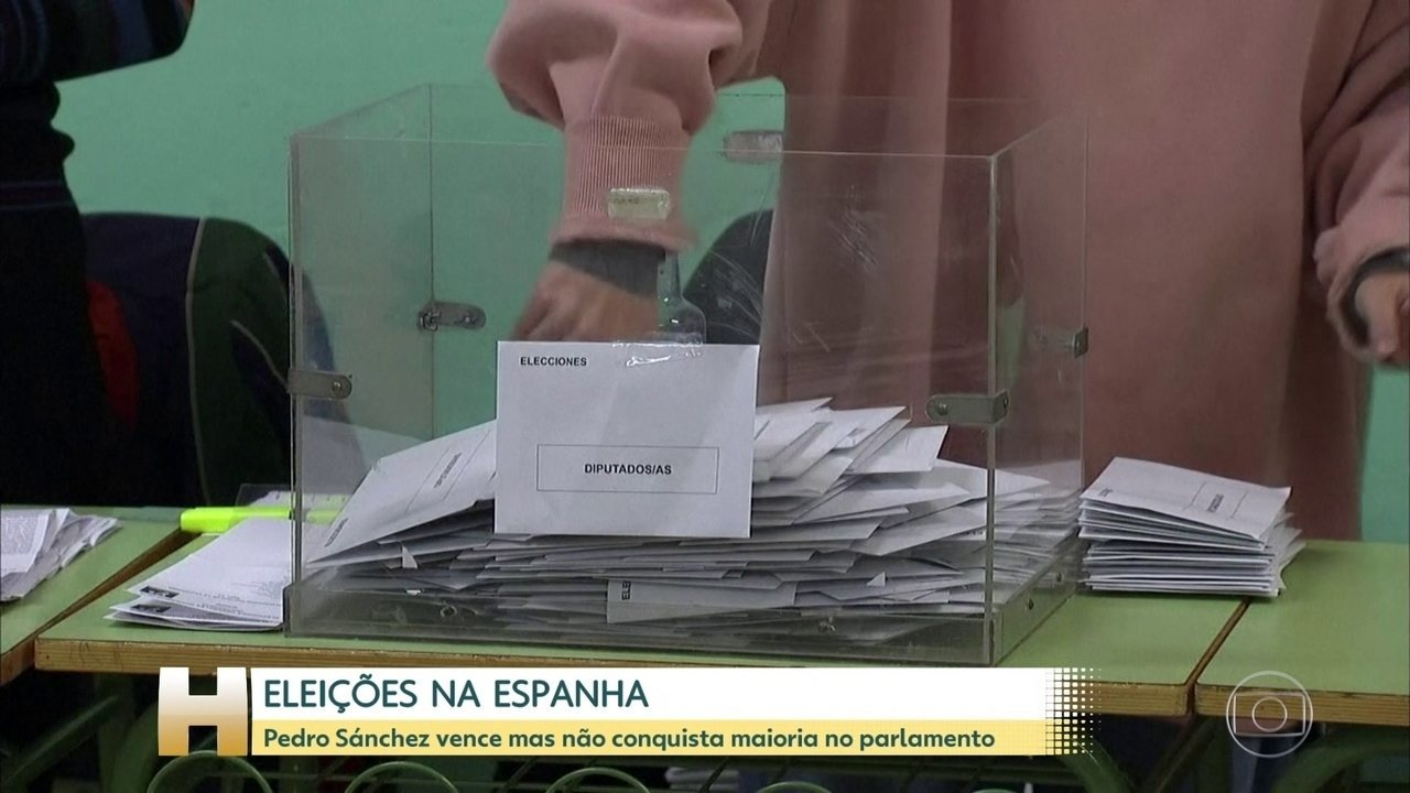 O socialista Pedro Sánchez venceu as eleições na Espanha ontem, mas não conseguiu maioria