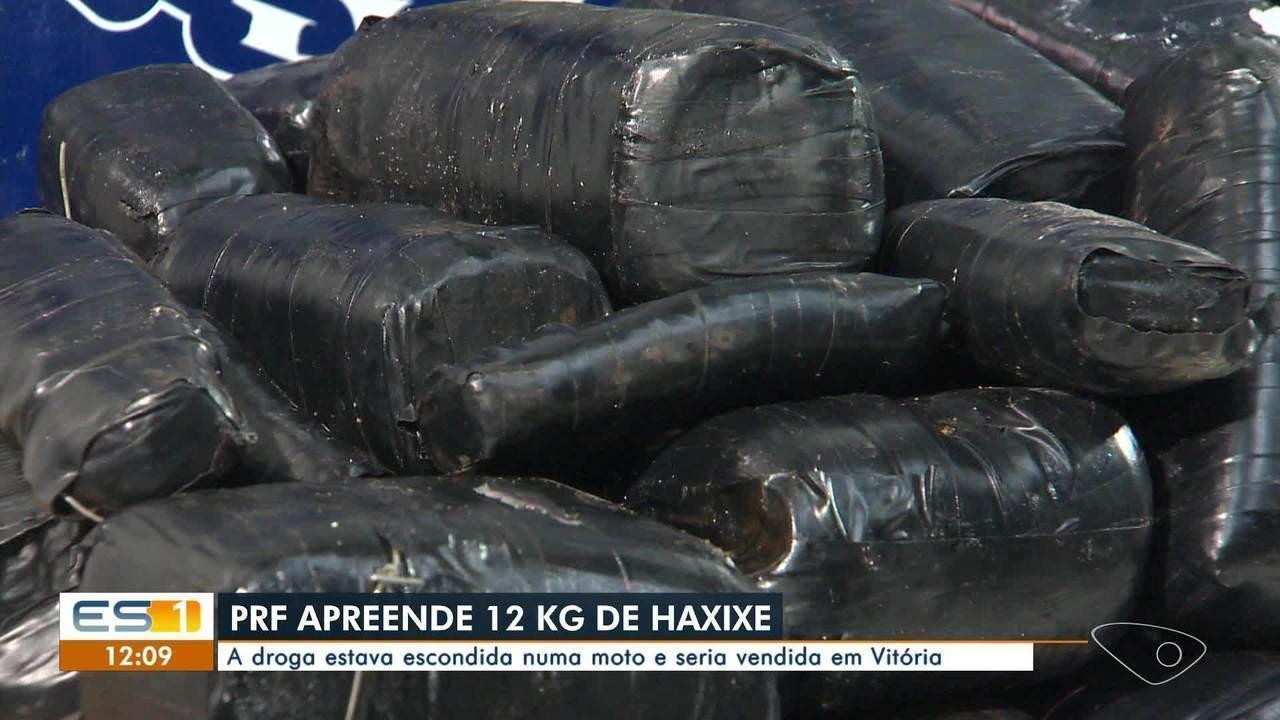 PRF apreende 12 kg de haxixe na BR-262 no Espírito Santo