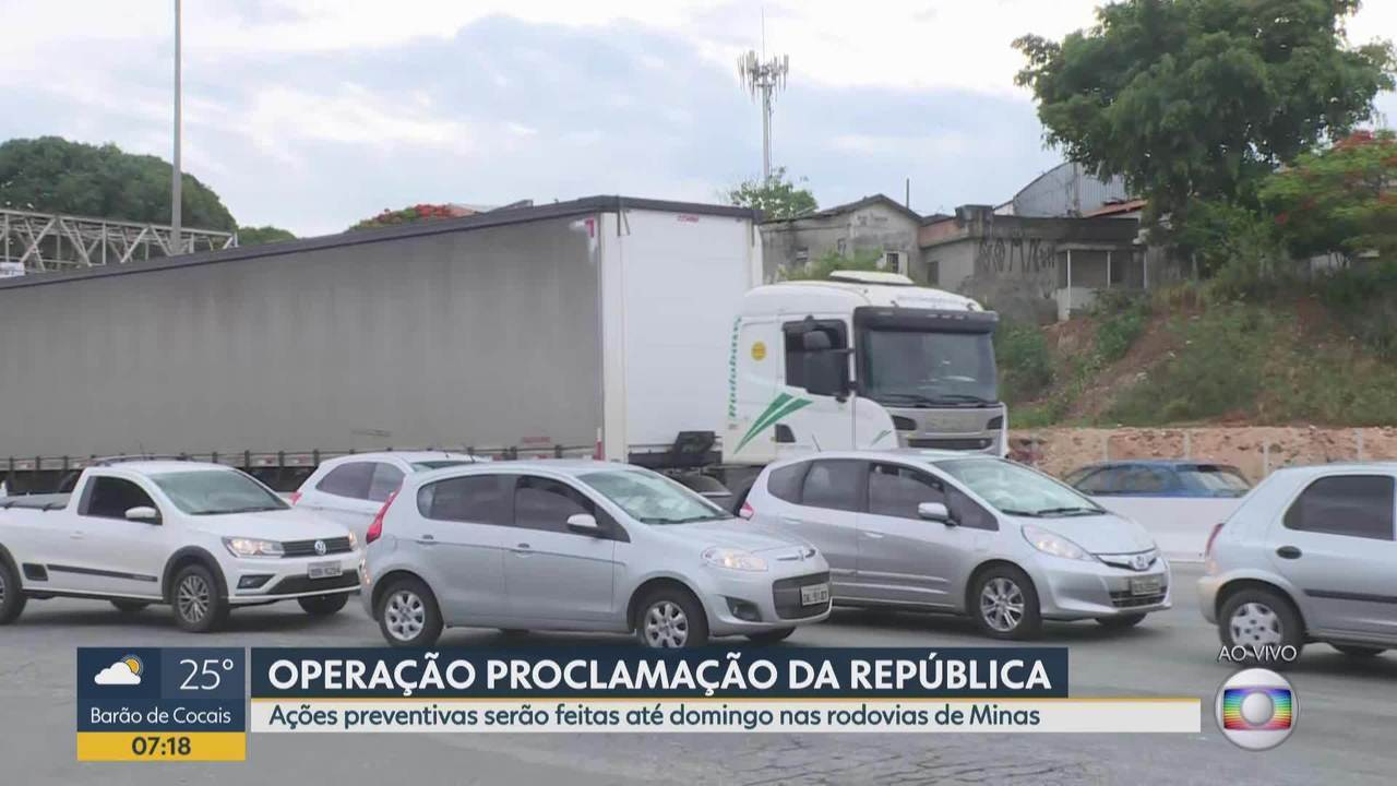 Ações preventivas serão feitas pela PRF, até domingo, nas rodovias de Minas