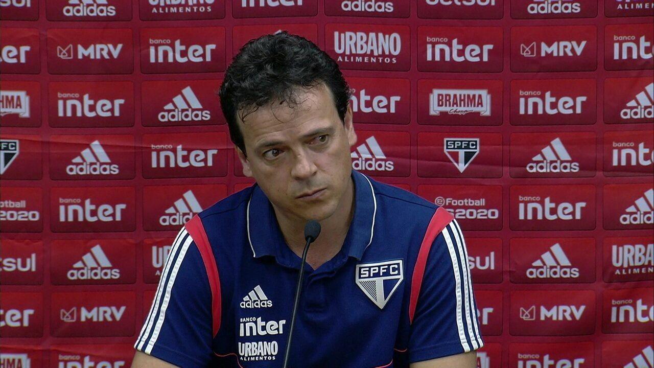 Coletiva de Imprensa do técnico Fernando Diniz após Santos x São Paulo.