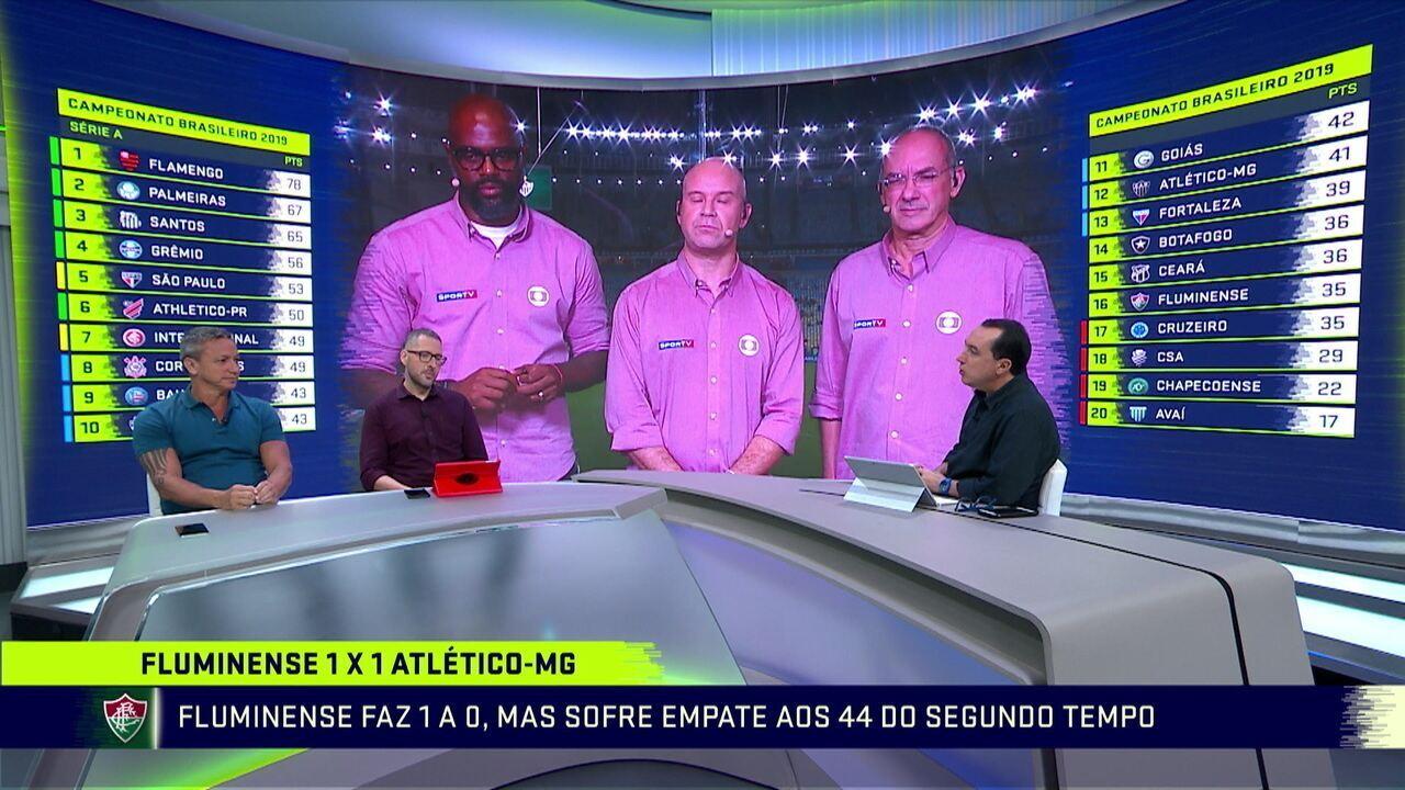 """Alexandre Lozetti e Paulo Nunes falam sobre empate do Fluminense, em casa, contra o Atlético-MG: """"Complica muito"""""""