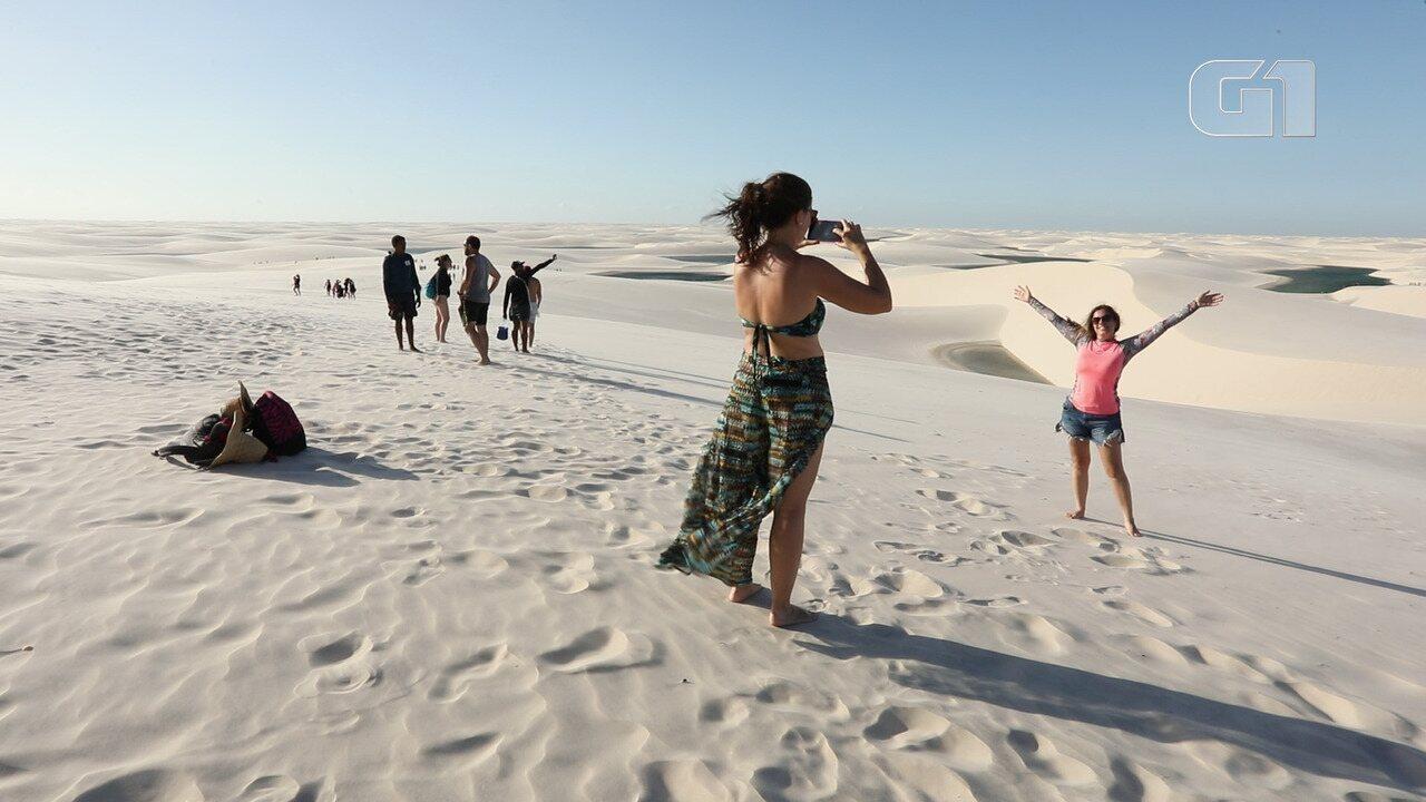 Por Barreirinhas, Lençóis entregam aventuras e duna de até 40 metros de altura