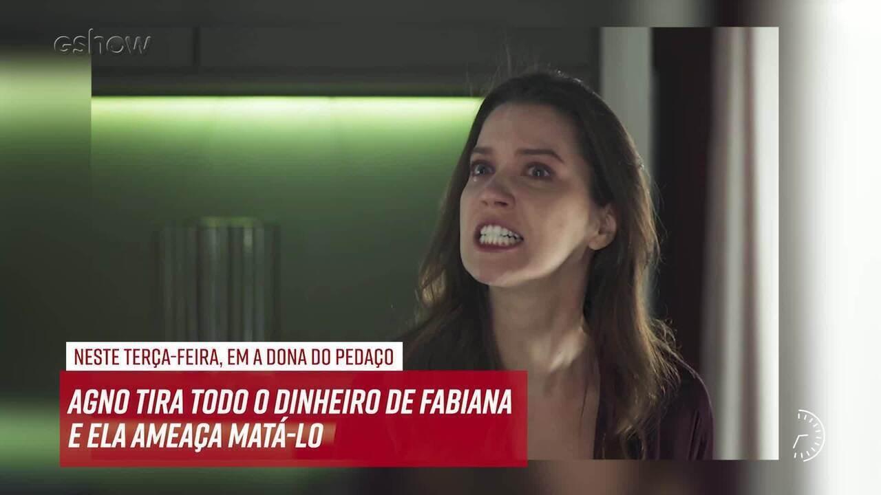 Resumo do dia - 19/11 – Agno tira todo o dinheiro de Fabiana e ela ameaça matá-lo