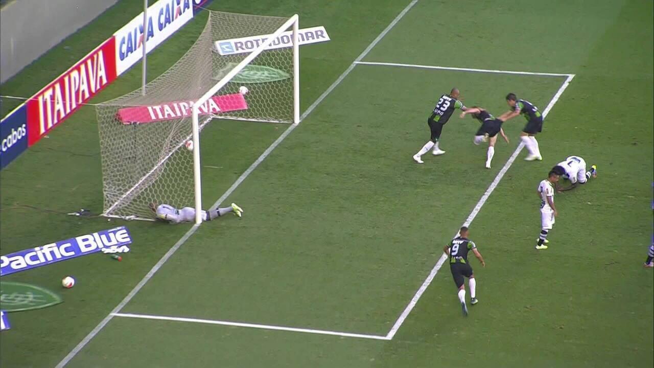 Gol de Wesley Matos sobre o Ceará, em 2015, carimba acesso do América-MG à Série A