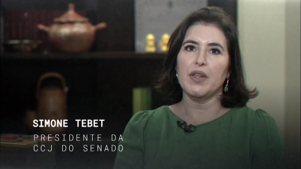Central GloboNews entrevista a senadora Simone Tebet