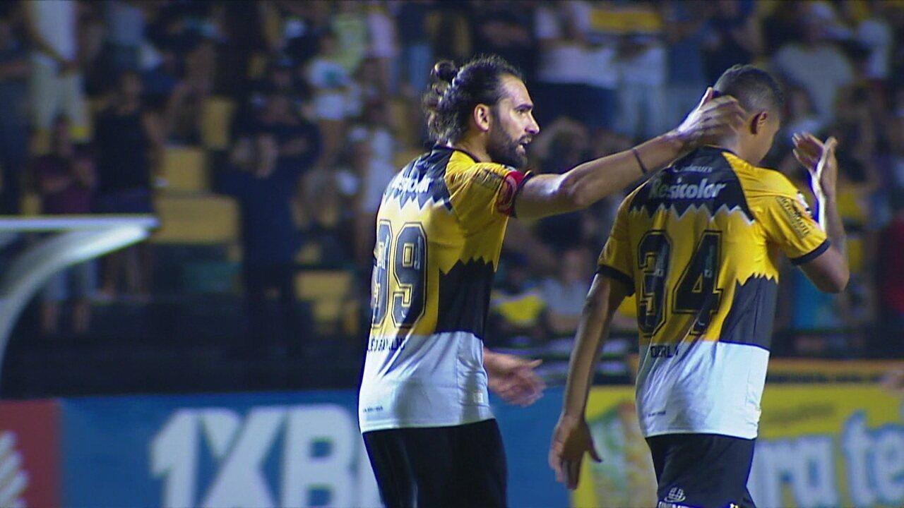 Os gols de Criciúma 1 x 1 Paraná pela 37ª rodada da Série B
