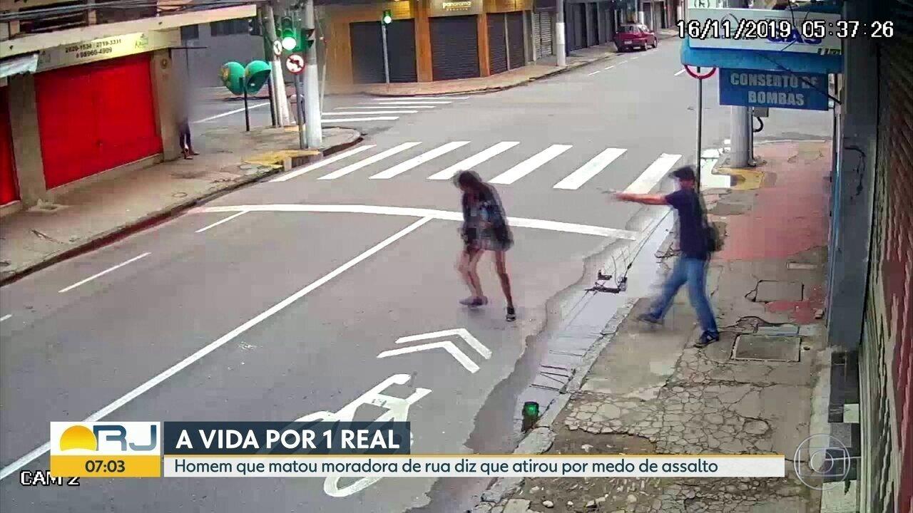 Homem que matou moradora de rua em Niterói diz que atirou por medo de assalto