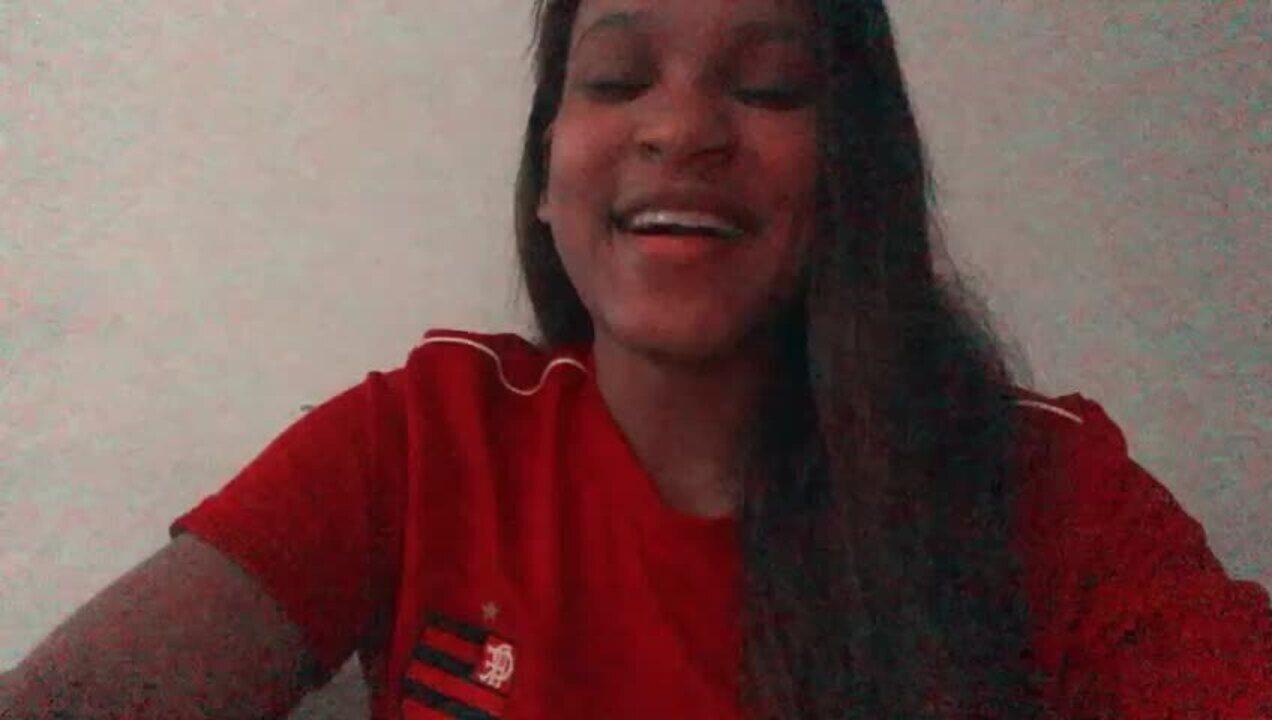 Rebeca Andrade, da ginástica, manda forças ao time do Flamengo