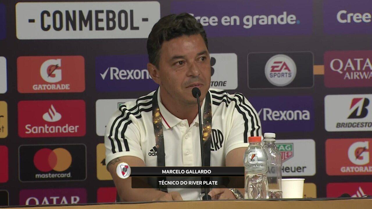 """Gallardo elogia a torcida do River Plate: """"A paixão supera qualquer outra coisa"""""""