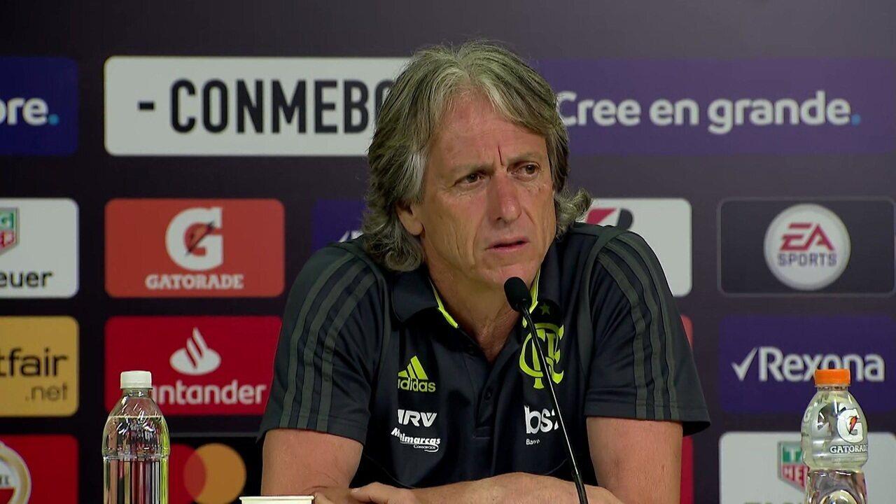 Jorge Jesus diz que antes de assumir o Flamengo, previu que seria finalista da Libertadores
