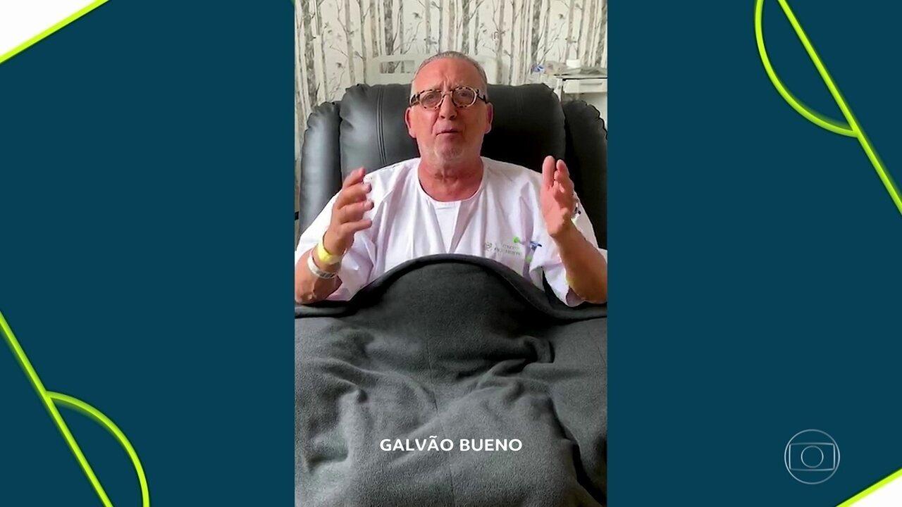 """Galvão Bueno: """"que seja um grande dia pro Flamengo e pro nosso futebol brasileiro"""""""