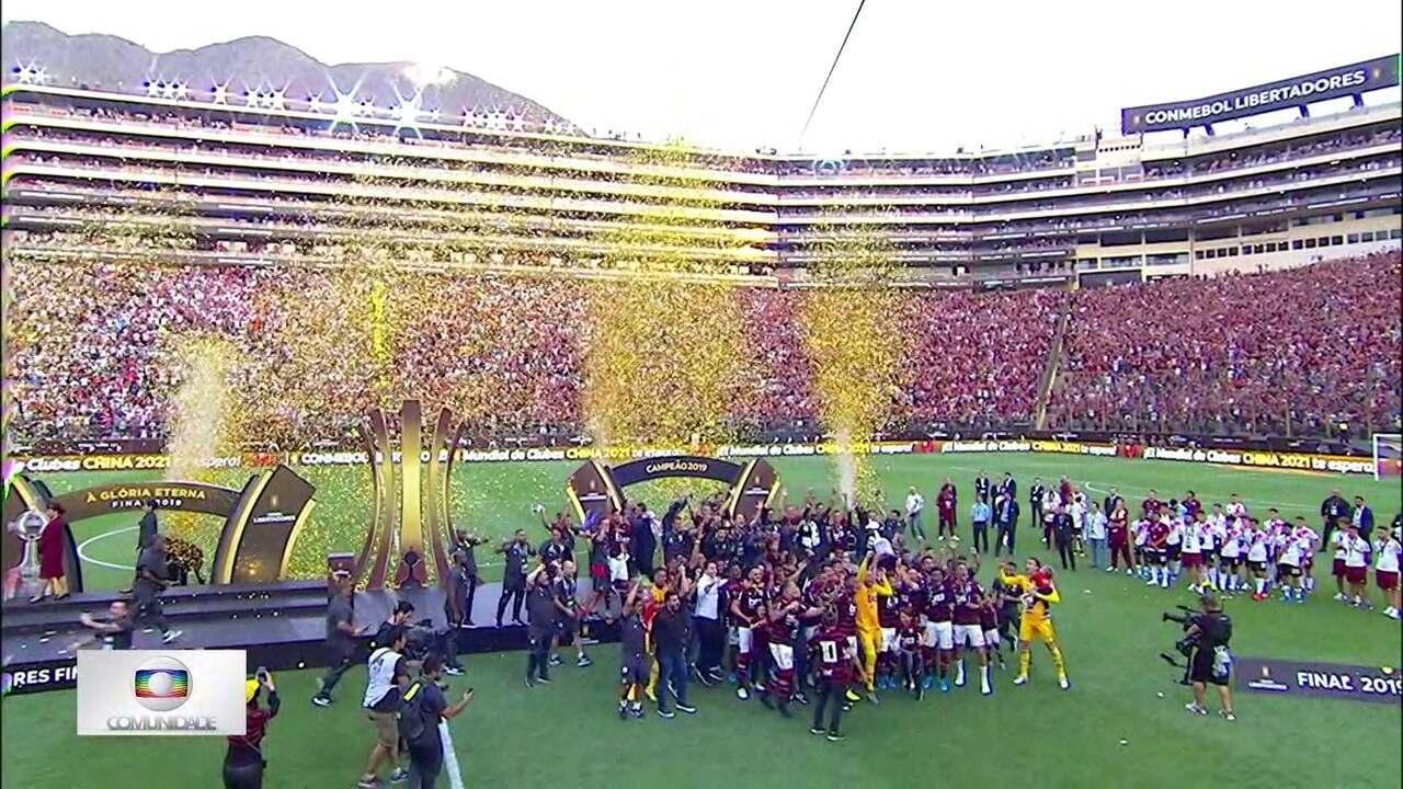 Globo Comunidade DF - Edição de 24/11/2019 - É do Flamengo. Trinta e oito anos depois, o time voltou a conquistar a América. O clube carioca é campeão da Taça Libertadores.