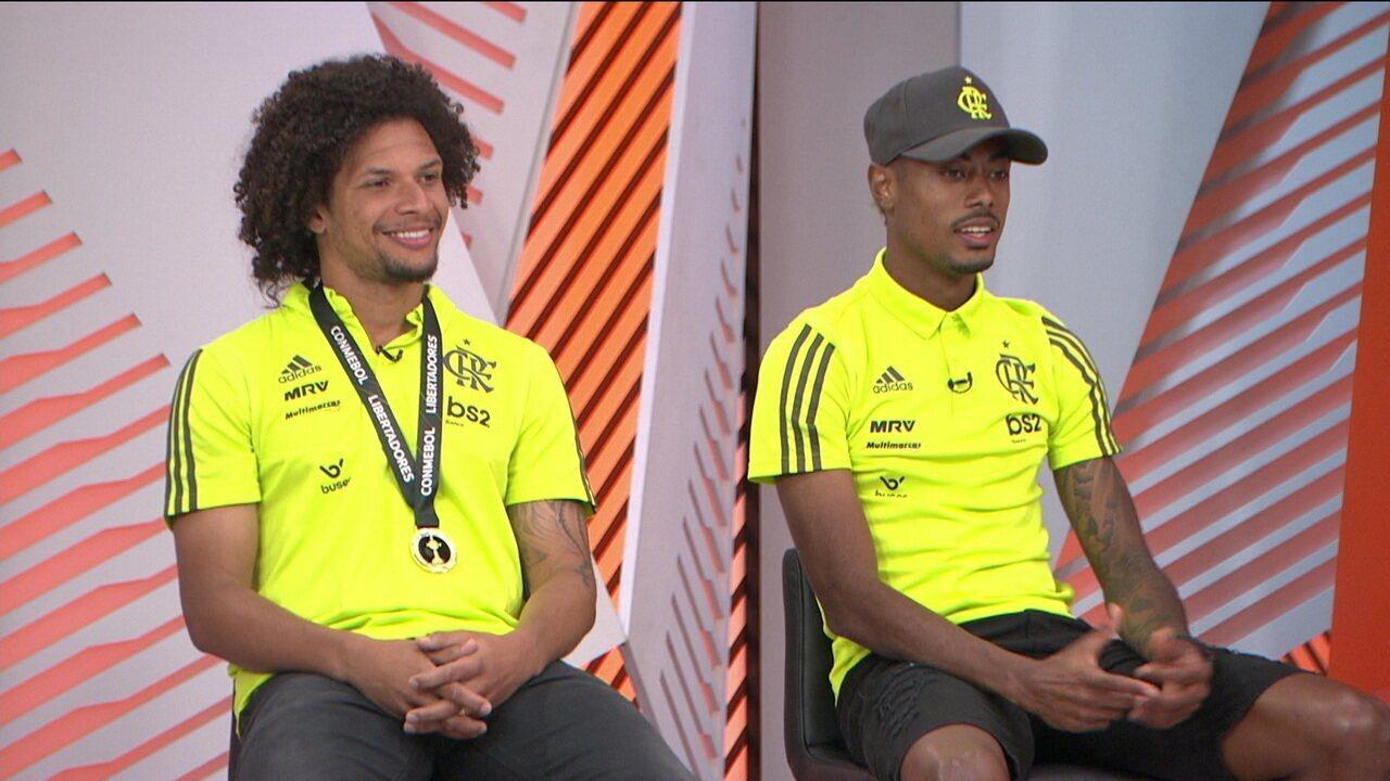 Após Título Na Libertadores E Brasileirão Willian Arão E Bruno Henrique Participam Do Globo Esporte