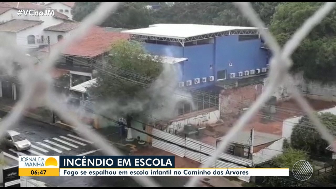 Escola privada é atingida parcialmente por incêndio no bairro Caminho das Árvores
