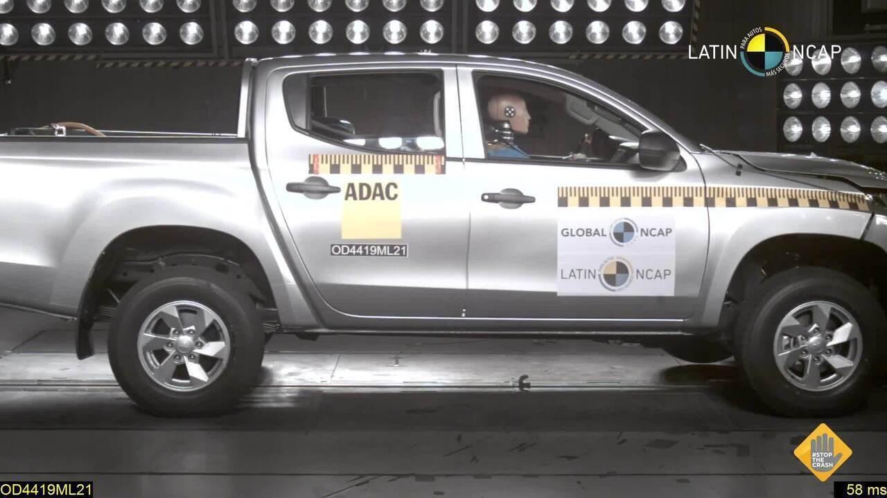 Mitsubishi L200, em versão vendida no Chile, é reprovada pelo Latin NCap