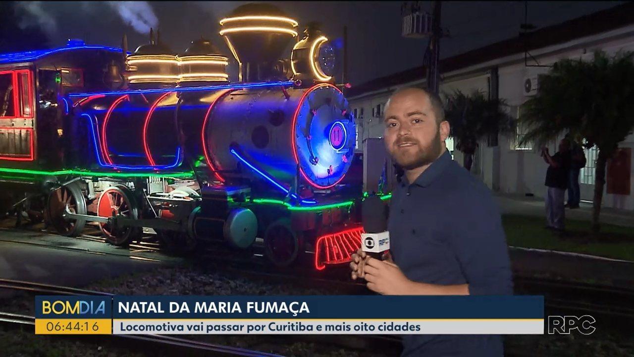 Maria Fumaça volta a circular em Curitiba