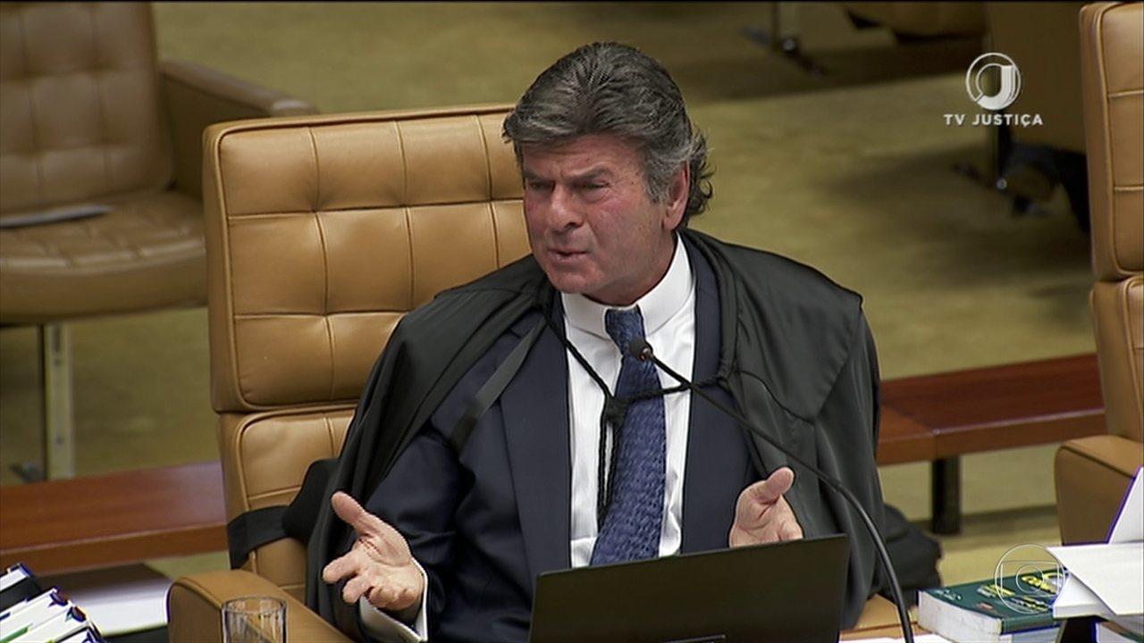 Ministro Luiz Fux vota no julgamento sobre compartilhamento de dados fiscais