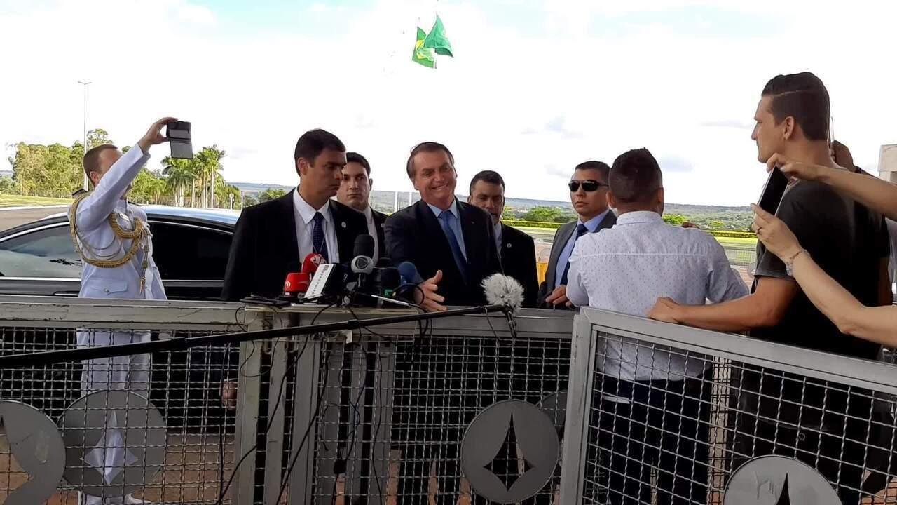 Jair Bolsonaro comenta escolha de novo presidente da Fundação Cultural Palmares