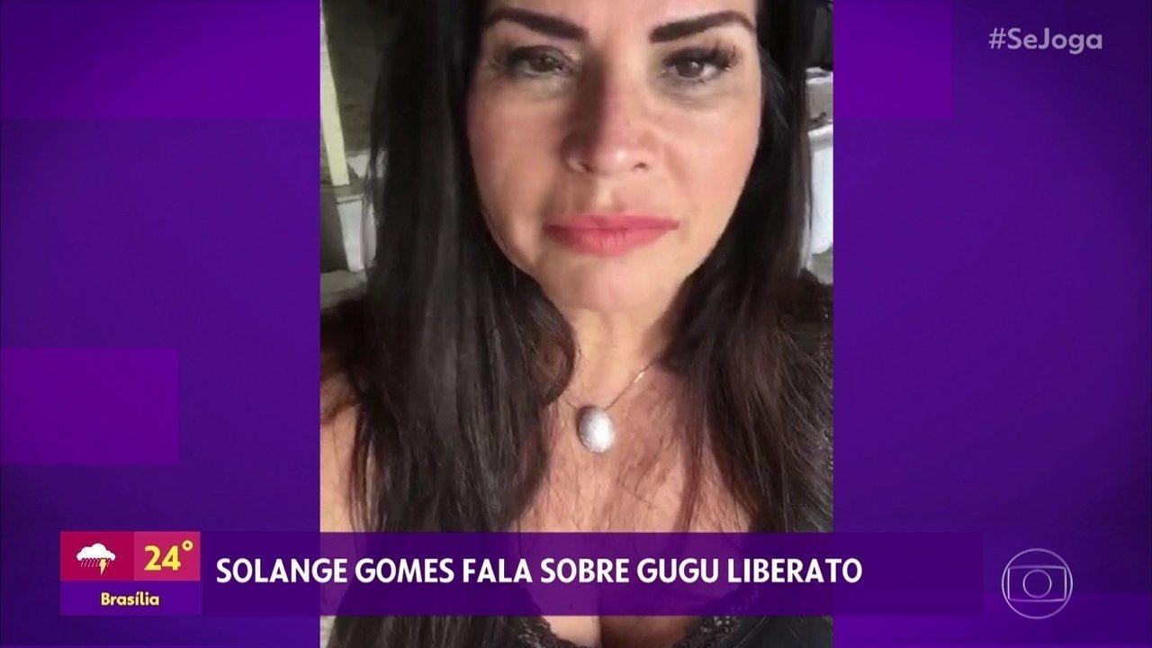 Solange Gomes lamenta a morte de Gugu Liberato