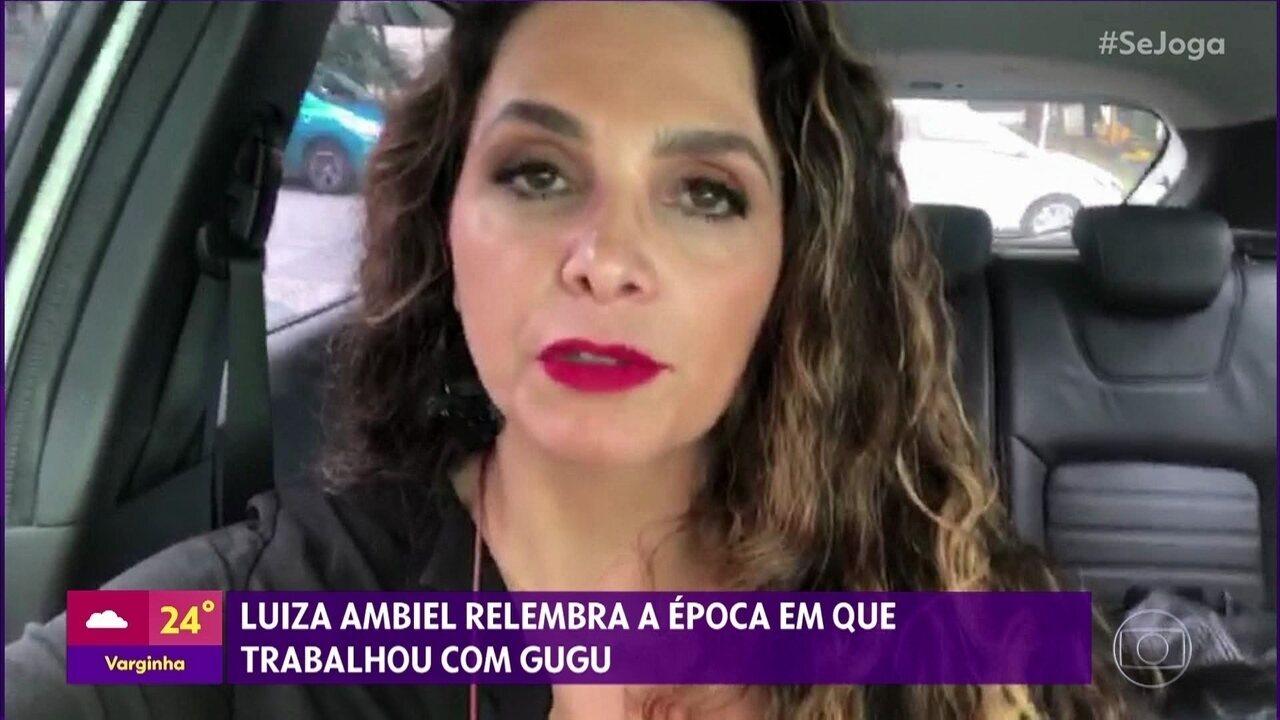 Luiza Ambiel relembra época em que trabalhou com Gugu