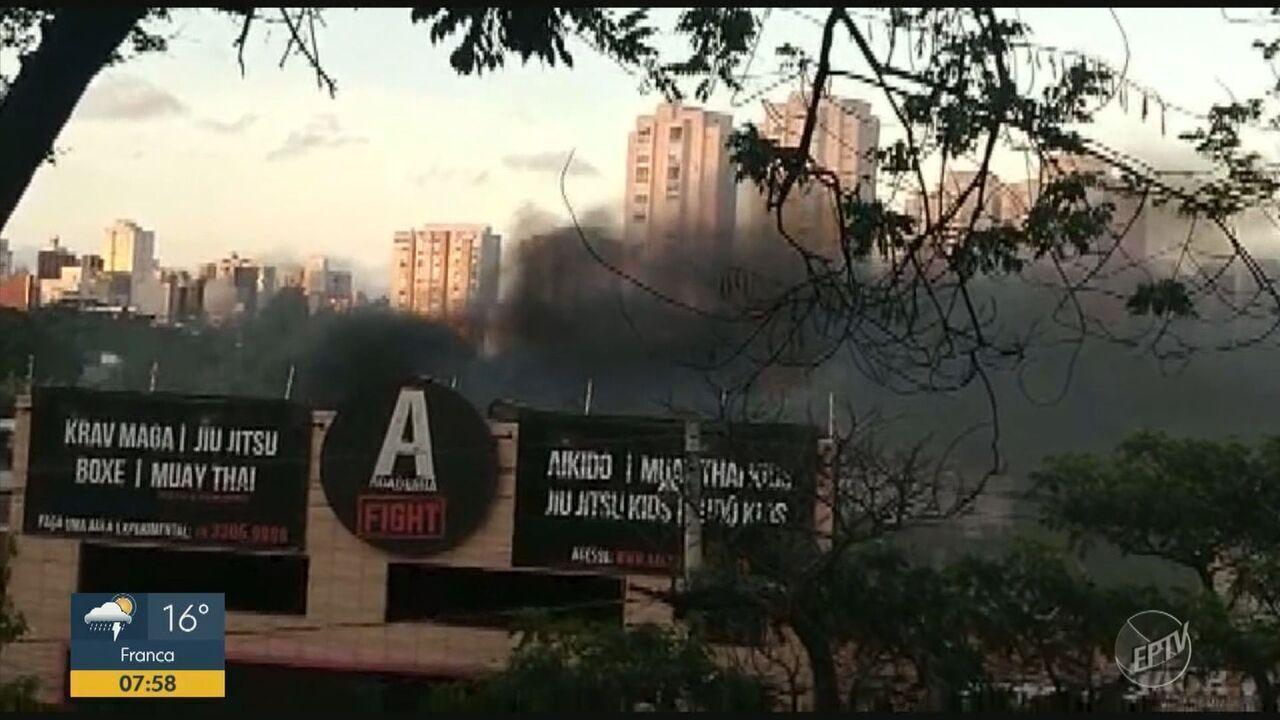 Academia pega fogo no bairro Taquaral, em Campinas