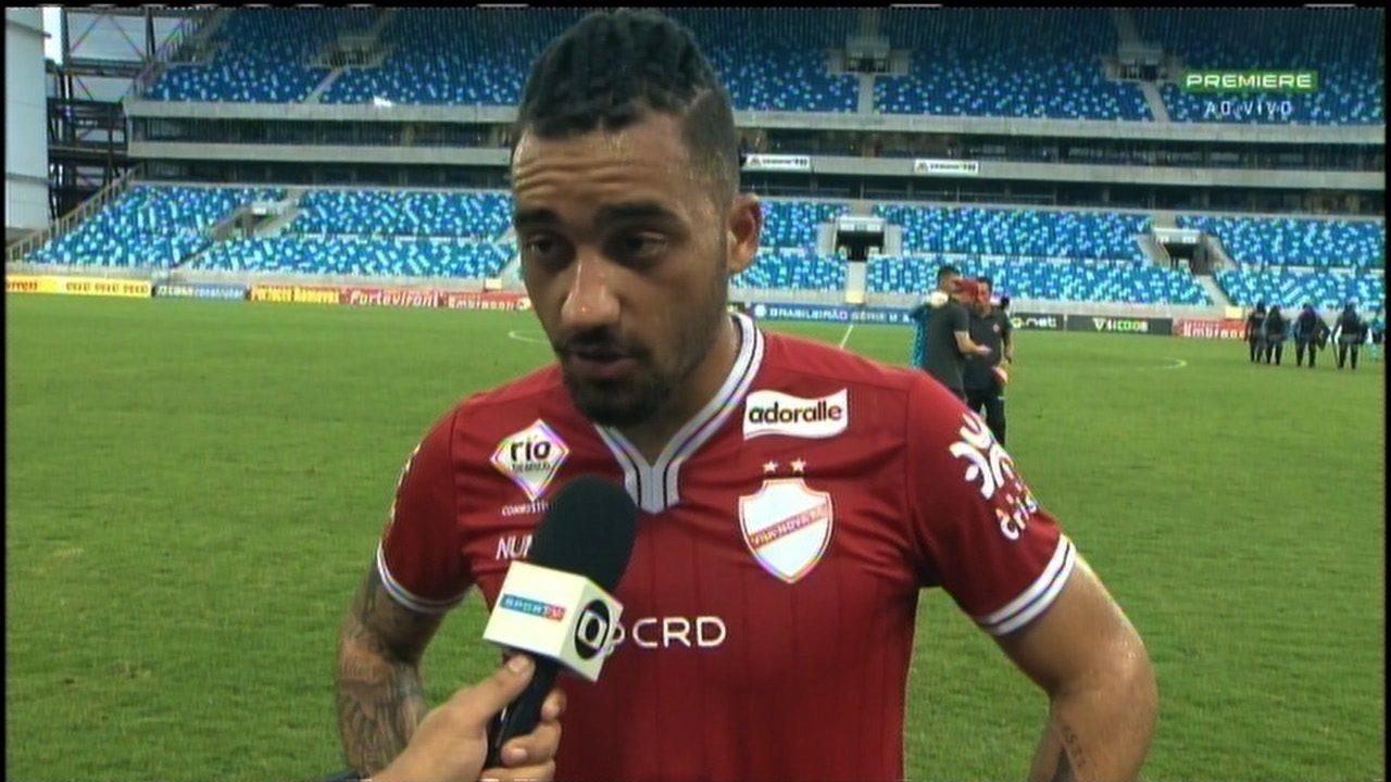 Mesmo com rebaixamento, Robinho valoriza vitória do Vila Nova