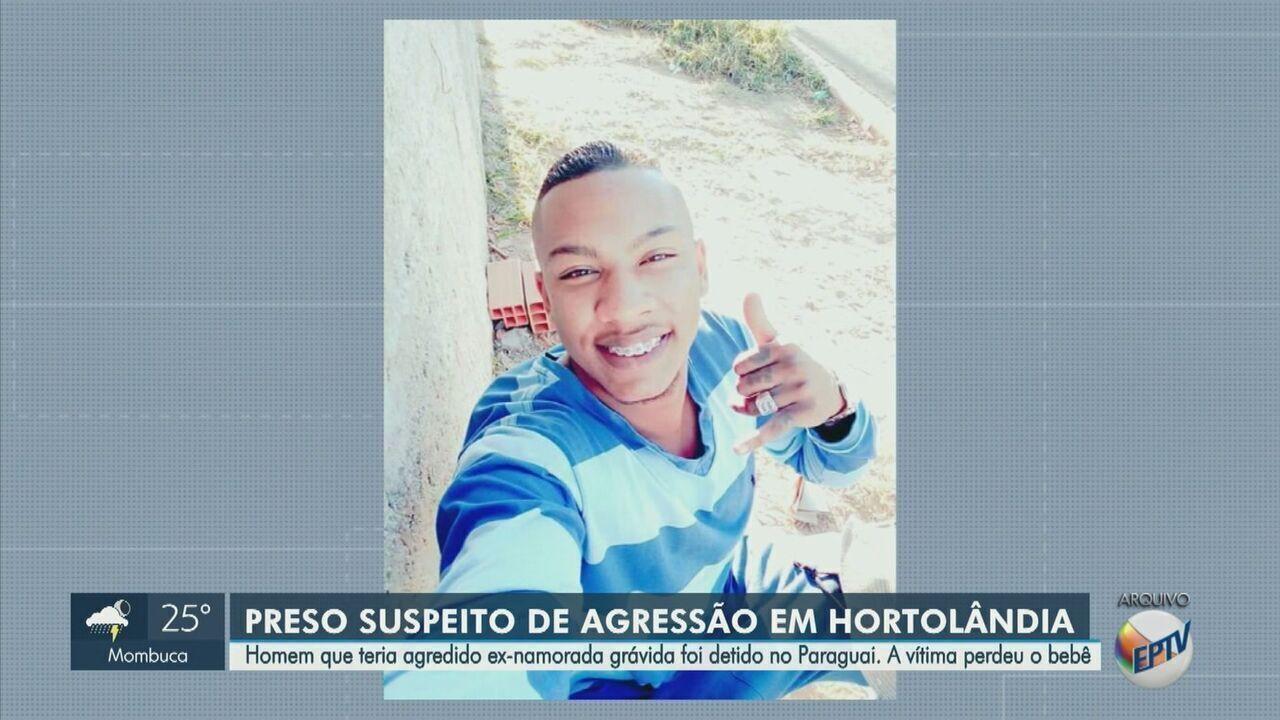 Suspeito de espancar grávida de 7 meses em Hortolândia é preso no Paraguai