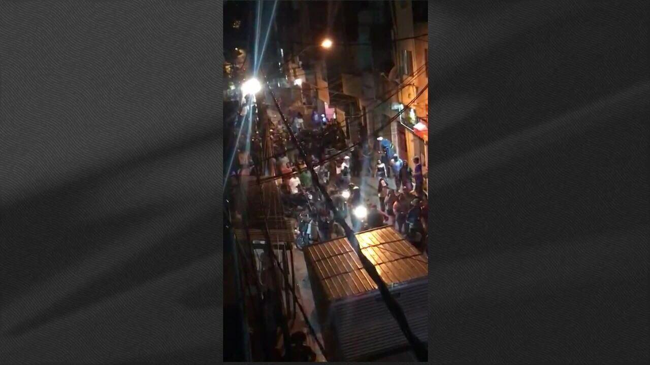 Imagens mostram confusão em saída de baile funk em Paraisópolis