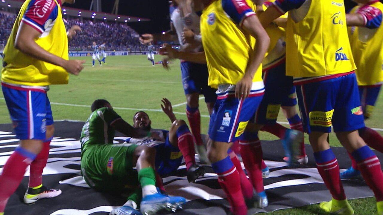 Os gols de CSA 1 x 2 Bahia pela 36ª rodada do Brasileirão 2019
