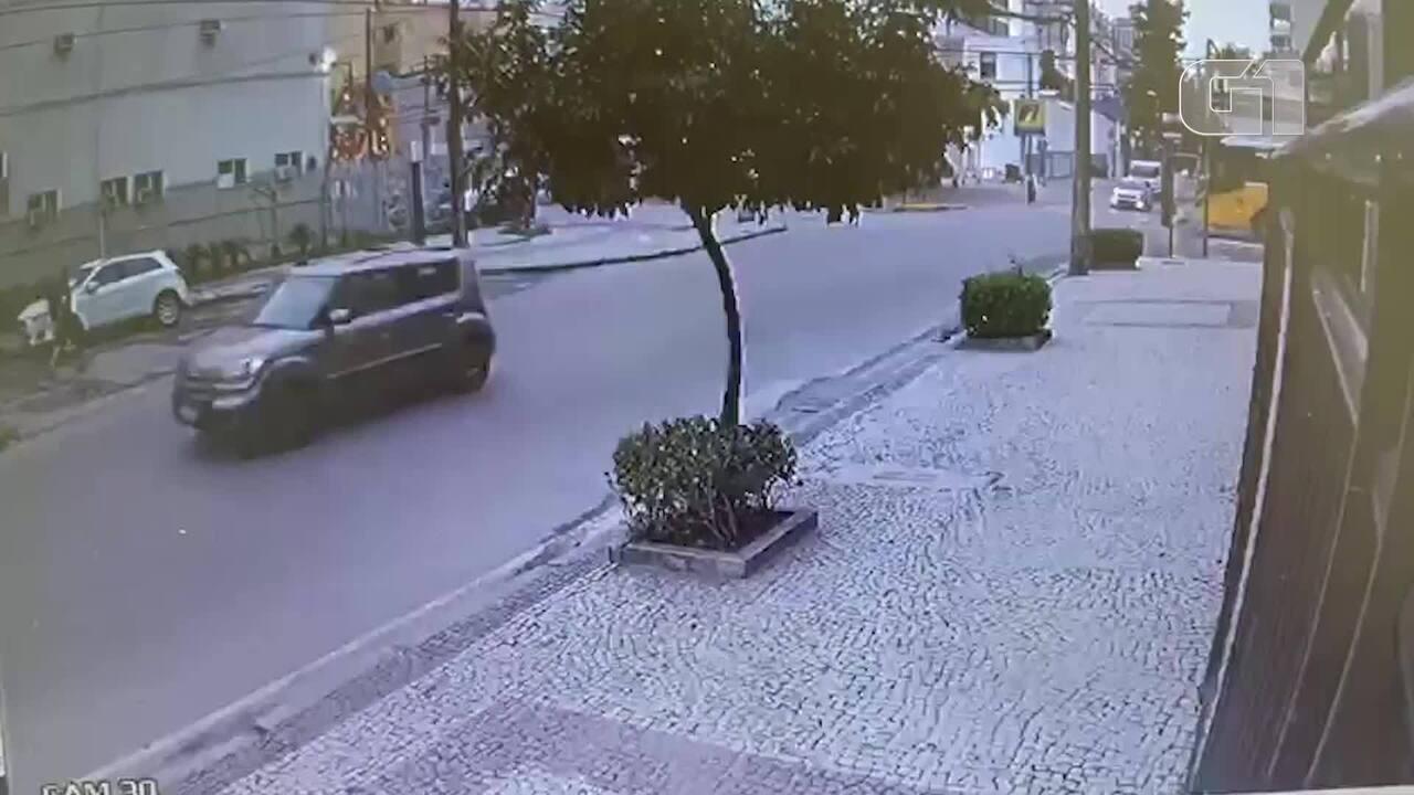 Vídeo mostra momento em que ônibus atinge ciclista em Botafogo, na Zona Sul do Rio