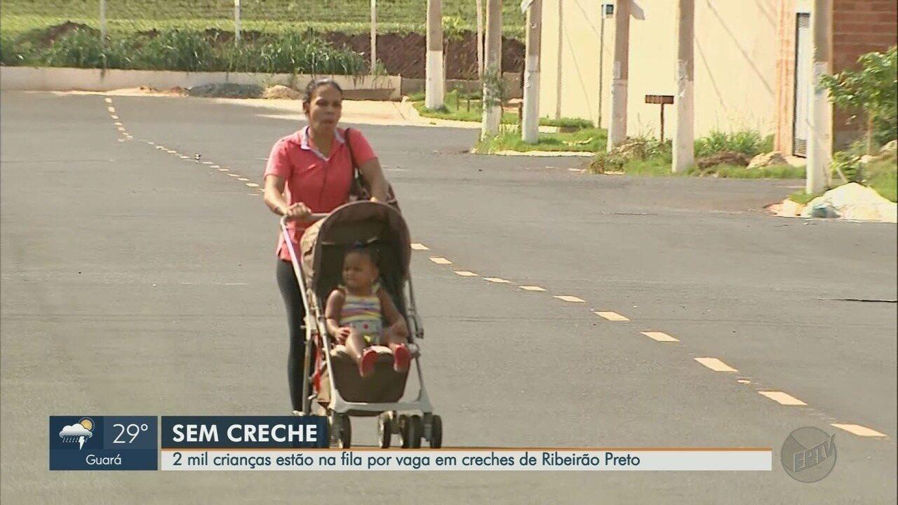 Duas mil crianças estão à espera de vagas em creches de Ribeirão Preto