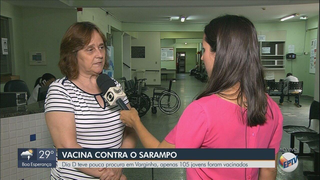 'Dia D' termina com pouca procura por vacinas de sarampo em Varginha