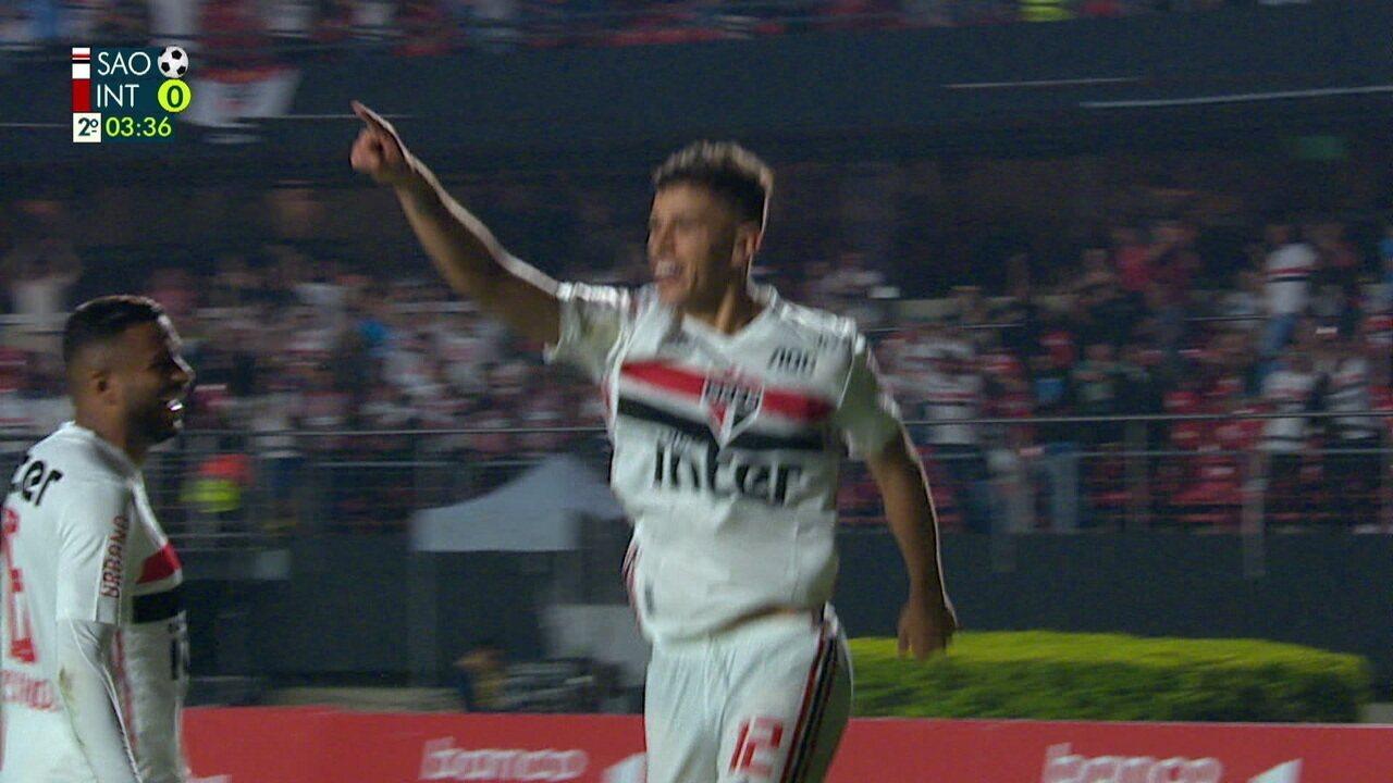 Os gols de São Paulo 2 x 1 Internacional pela 37ª rodada do Campeonato Brasileiro