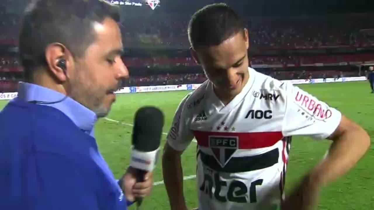 Antony comemora classificação do São Paulo para a fase de grupos da Libertadores