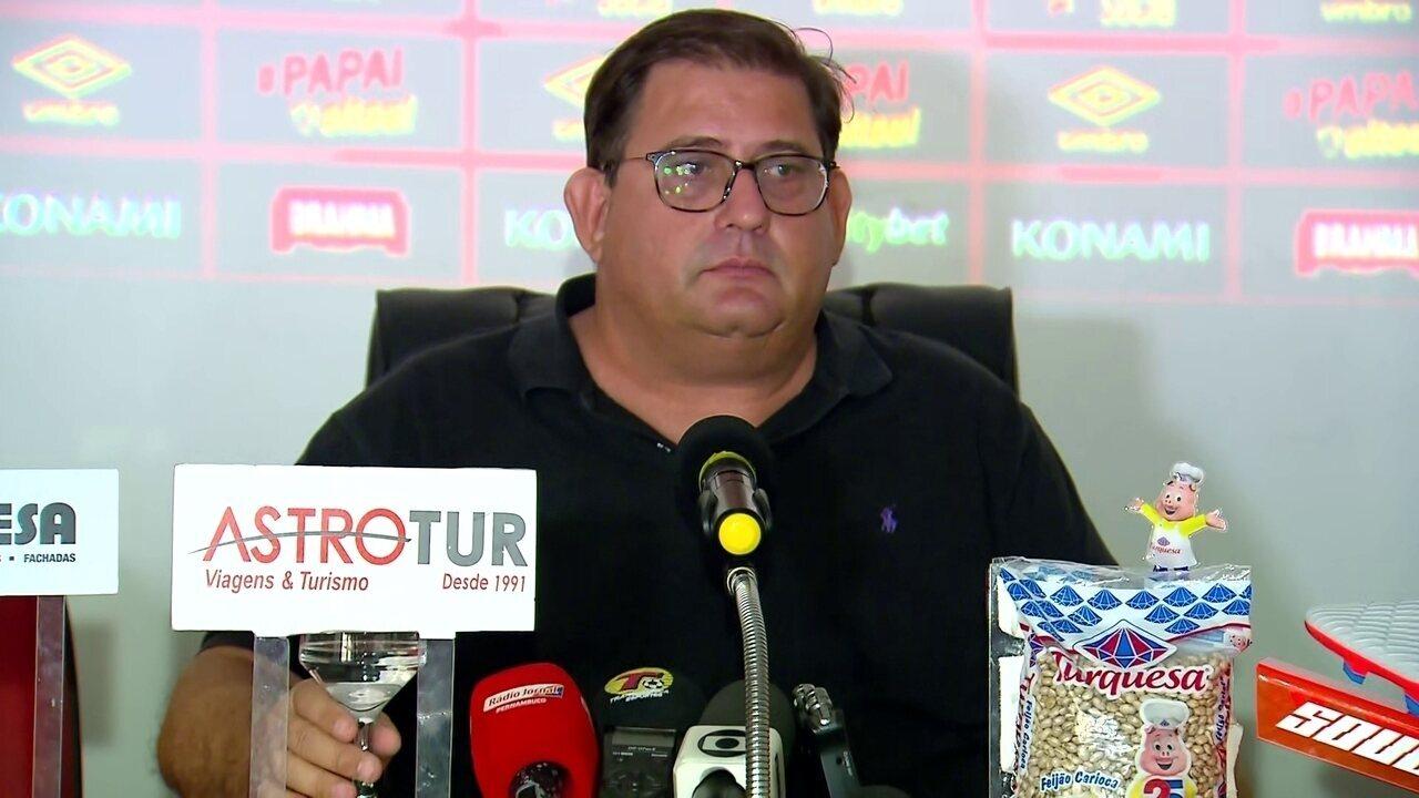 Guto Ferreira fala sobre interesse do Sport em Diego Souza