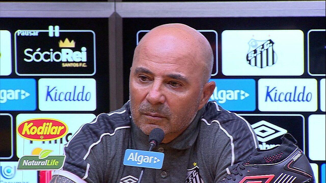 Veja a coletiva do técnico Jorge Sampaoli do Santos