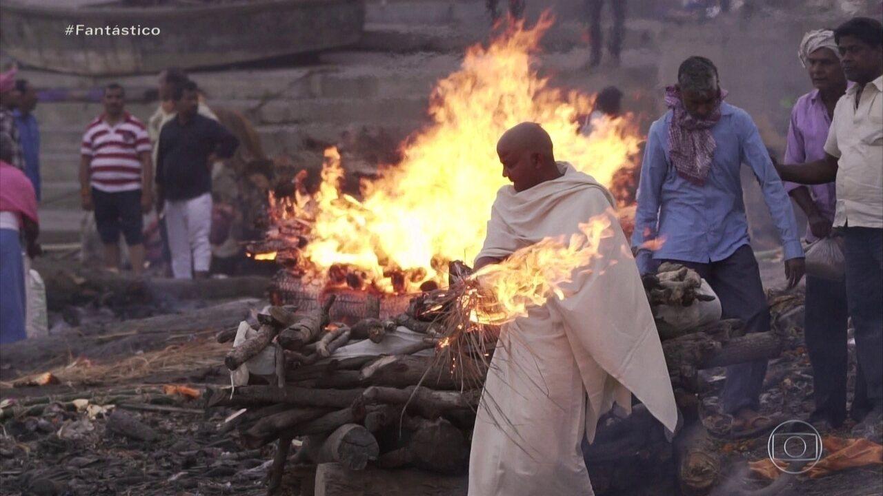 A Jornada da Vida: indianos esperam a morte local conhecido como 'atalho para o paraíso'