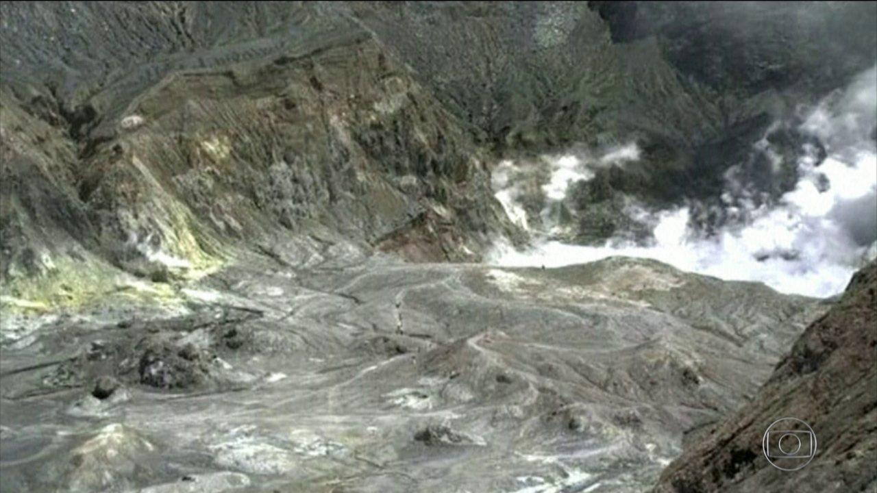 Vulcão na Nova Zelândia deixa cinco pessoas mortas e mais de 20 feridas