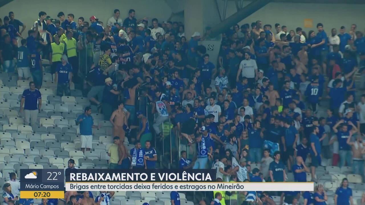 Cruzeiro é rebaixado e jogo termina com briga envolvendo torcedores