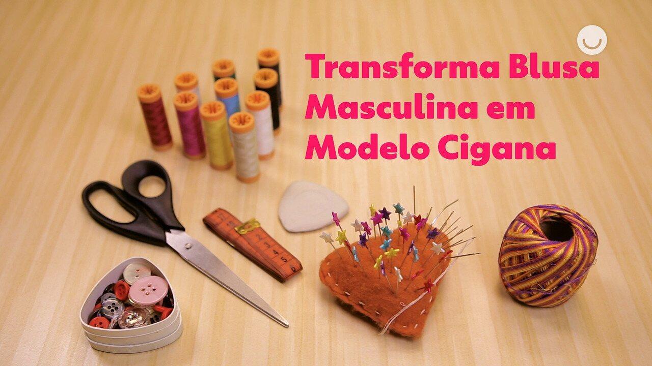Faça Você Mesmo: aprenda a transformar uma camisa masculina em blusa cigana