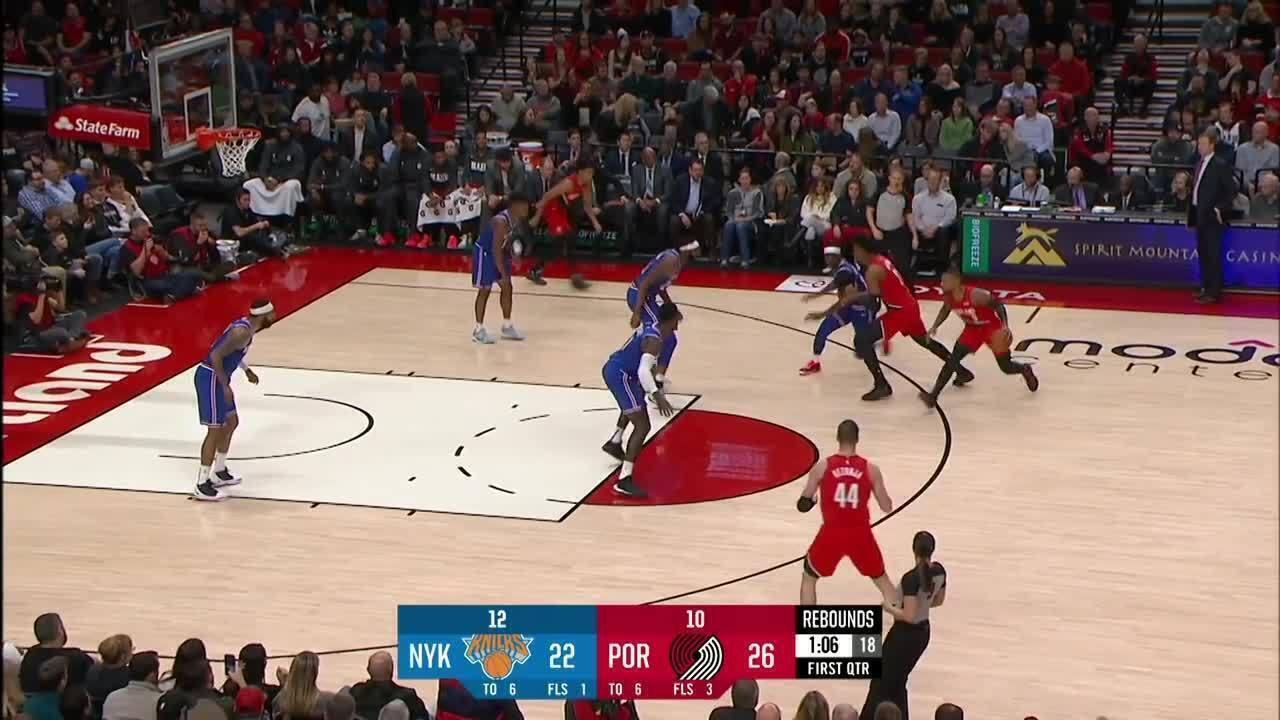 Melhores momentos: Portland Trail Blazers 115 x 87 New York Knicks, pela NBA